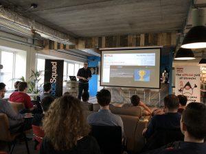Tom Cools tijdens Utrecht JUG meetup
