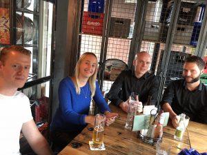 Lennart, Liza, Mike en Hylco
